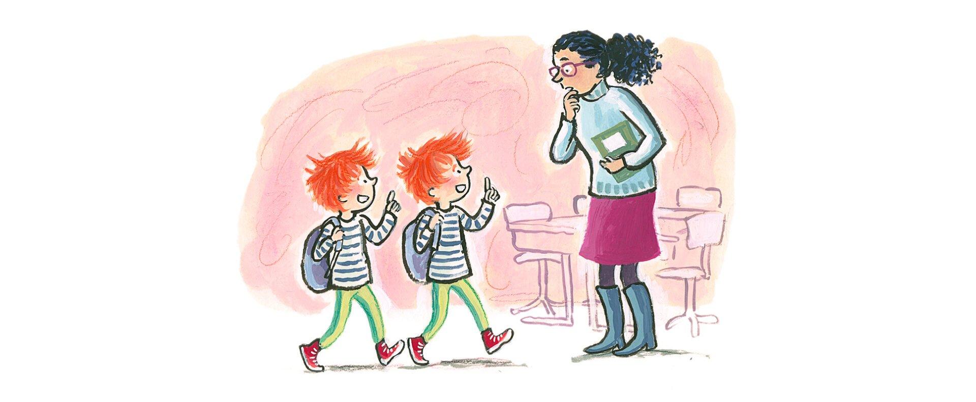 Beginnende lezers en AVI - illustratie door Saskia Halfmouw