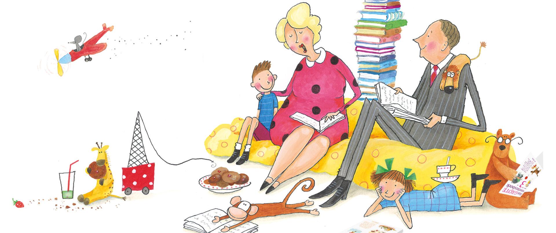 Voorlezen - De mooiste voorleesbundels - Illustratie door Jeska Verstegen