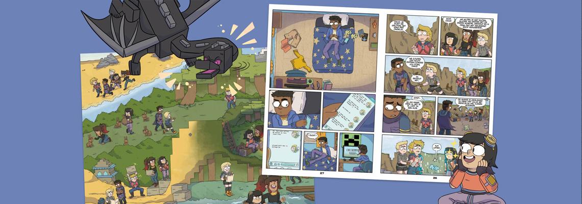 Minecraft – De strip - Sfé R. Monster, John J. Hill, Sarah Graley