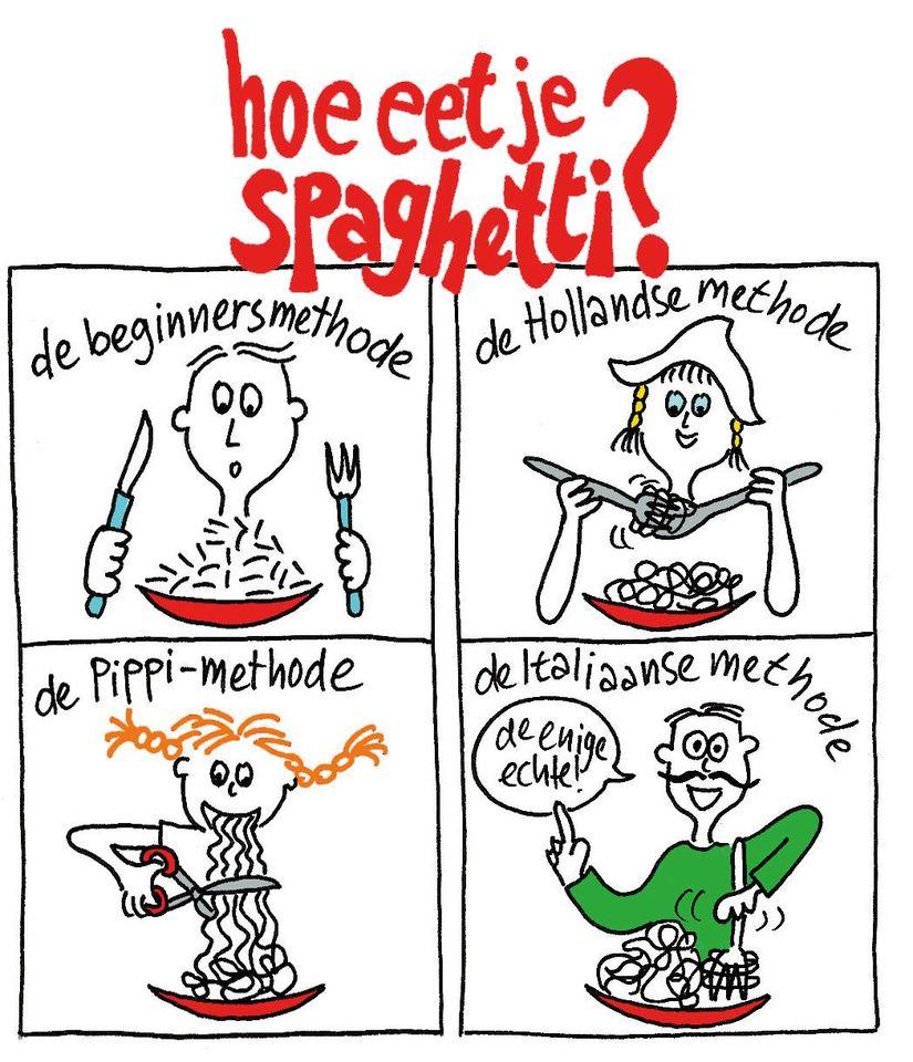 Spaghettidag - illustratie Karin Luiten