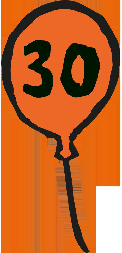 Muis 30 jaar - ballon