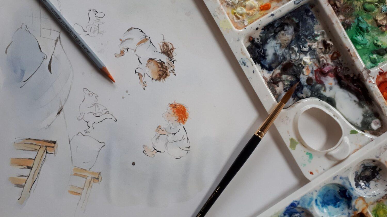 Ik ga bij Japie wonen - tekening Sandra Klaassen