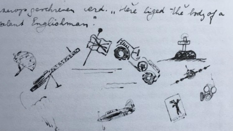 Tekeningen in het dagboek Felix Valk - Oorlog in inkt