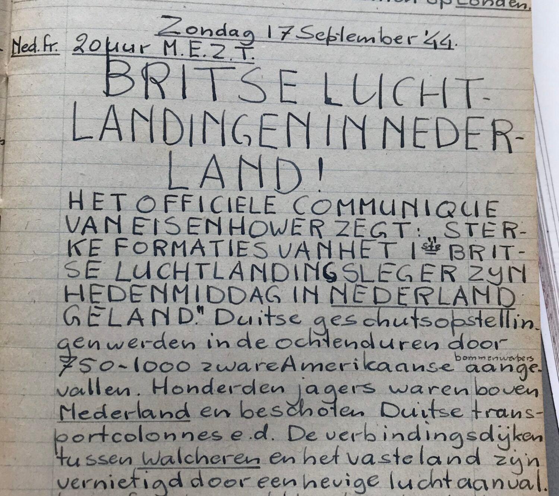 Dagboeknotitie van Hans - Oorlog in inkt