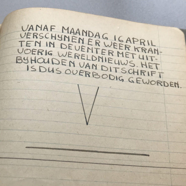 Het einde van het dagboek van Hans - Oorlog in inkt