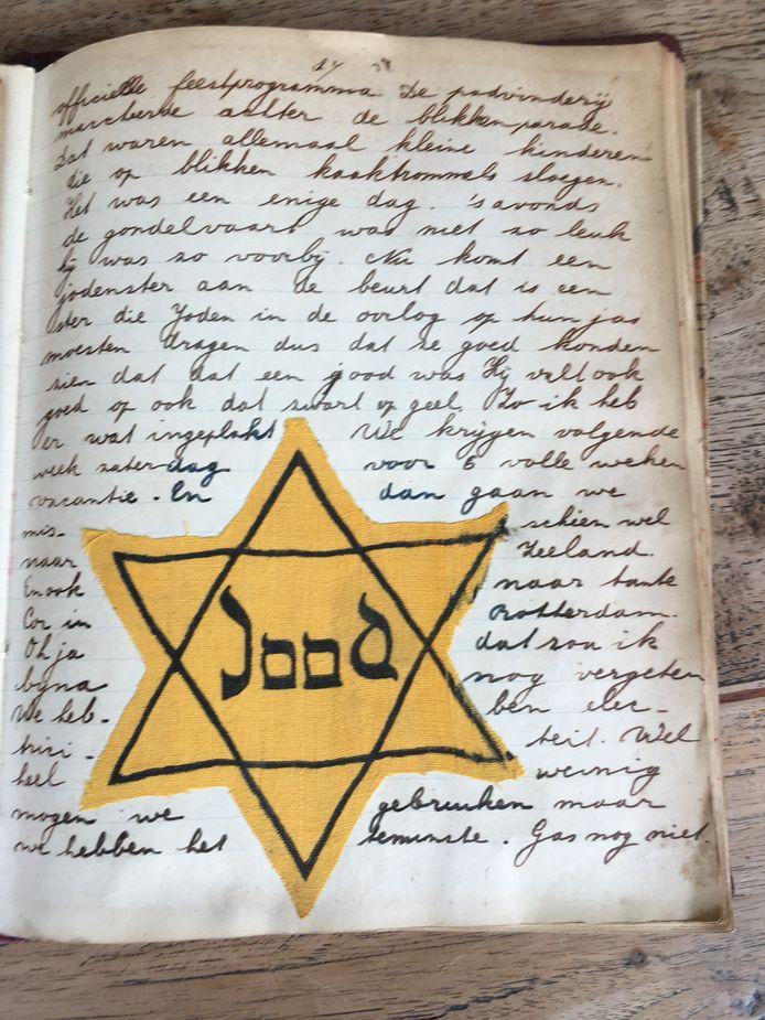 Corri plakte de jodenster van haar vriendinnetje in haar dagboek - Oorlog in inkt