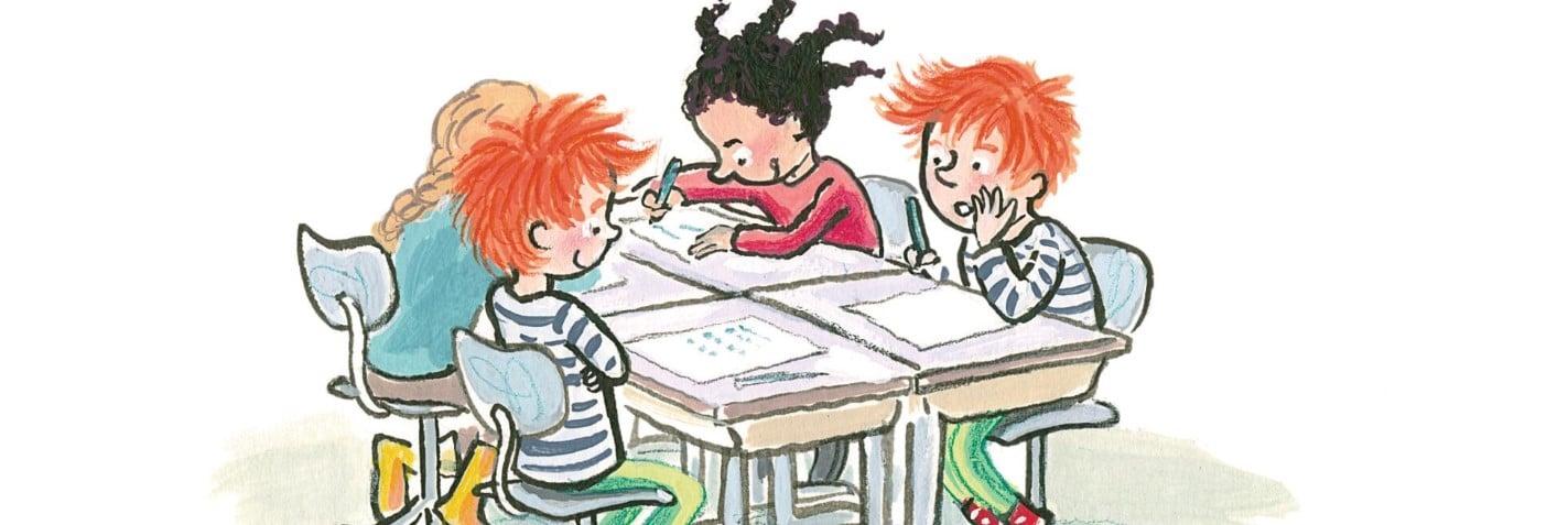 Illustratie uit Mijn zelfleesboek voor groep 3 door Saskia Halfmouw