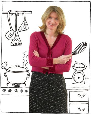 Karin Luiten in de keuken