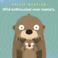 Wild enthousiast over mama's Philip Bunting
