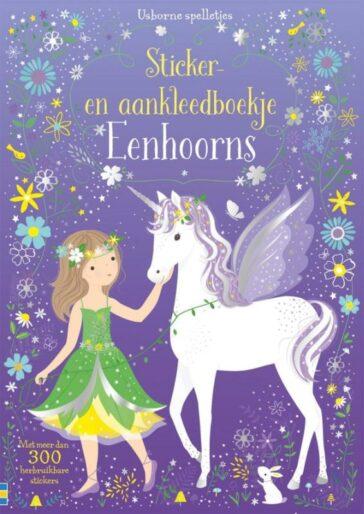 Sticker- en aankleedboekje Eenhoorns